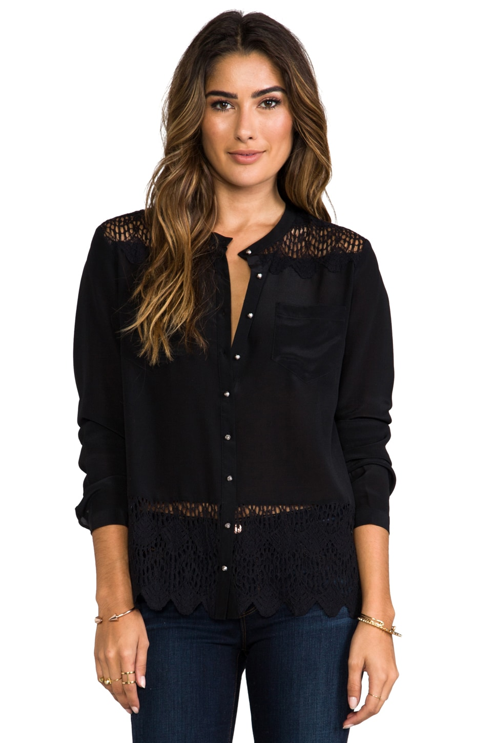 heartLoom Keaton Blouse in Black