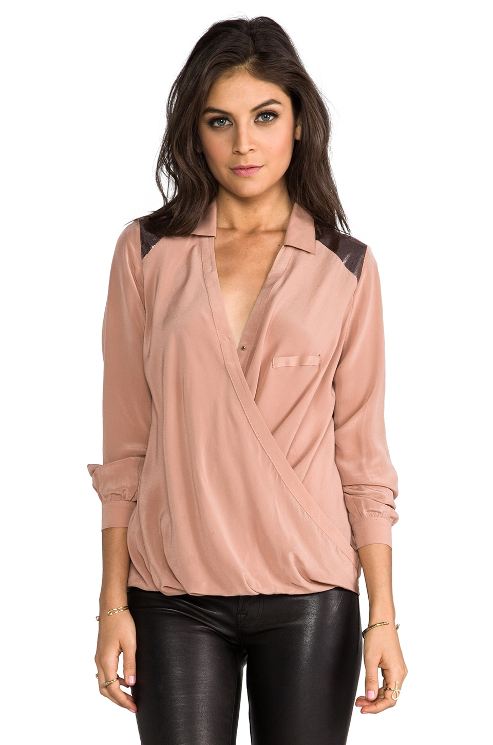 HEARTLOOM Heidi Wrap Top in Boudoir