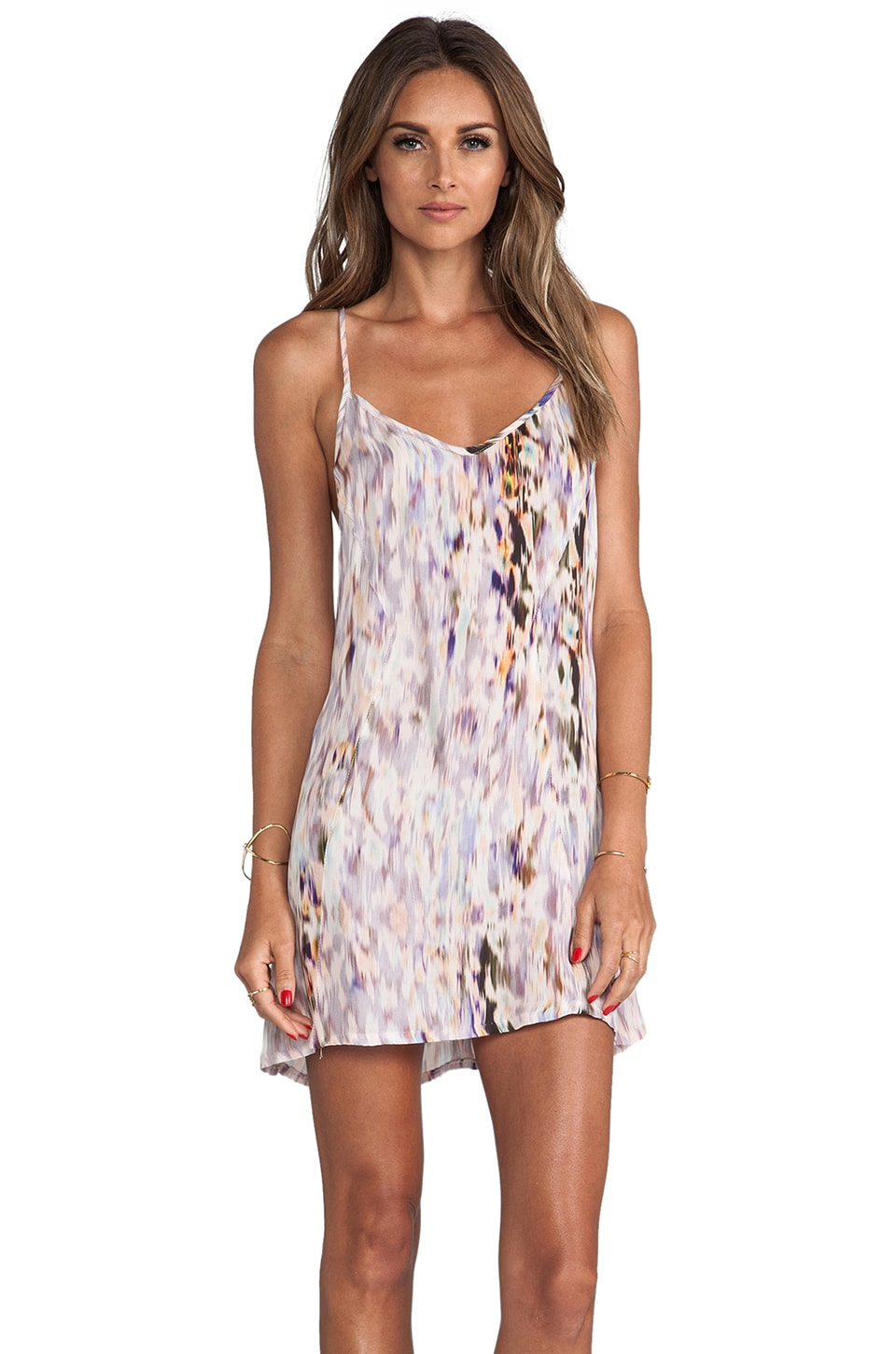 Helena Quinn Printed Mini Tank Dress in Watercolor