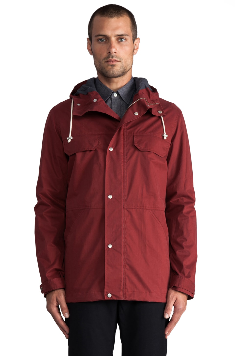 Hentsch Man Sail Jacket in Maroon