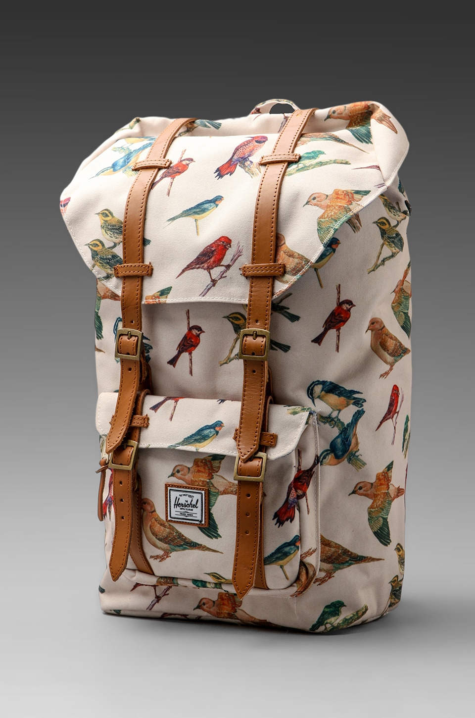 Herschel Supply Co. Bad Hills Workshop Little America in Watercolored Bird Print