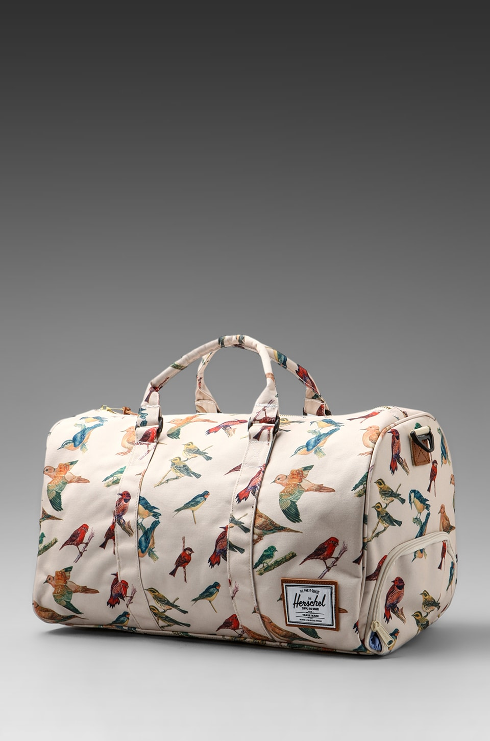 Herschel Supply Co. Bad Hills Workshop Novel Duffle in Watercolored Bird Print