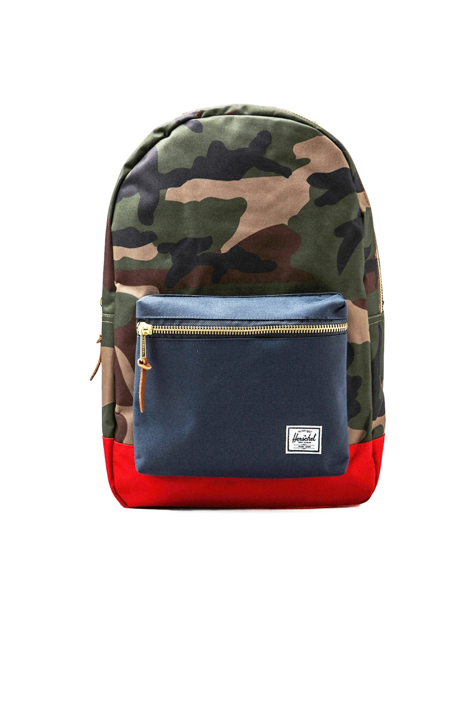 Herschel Supply Co. Settlement in Woodland Camo/Navy/Red