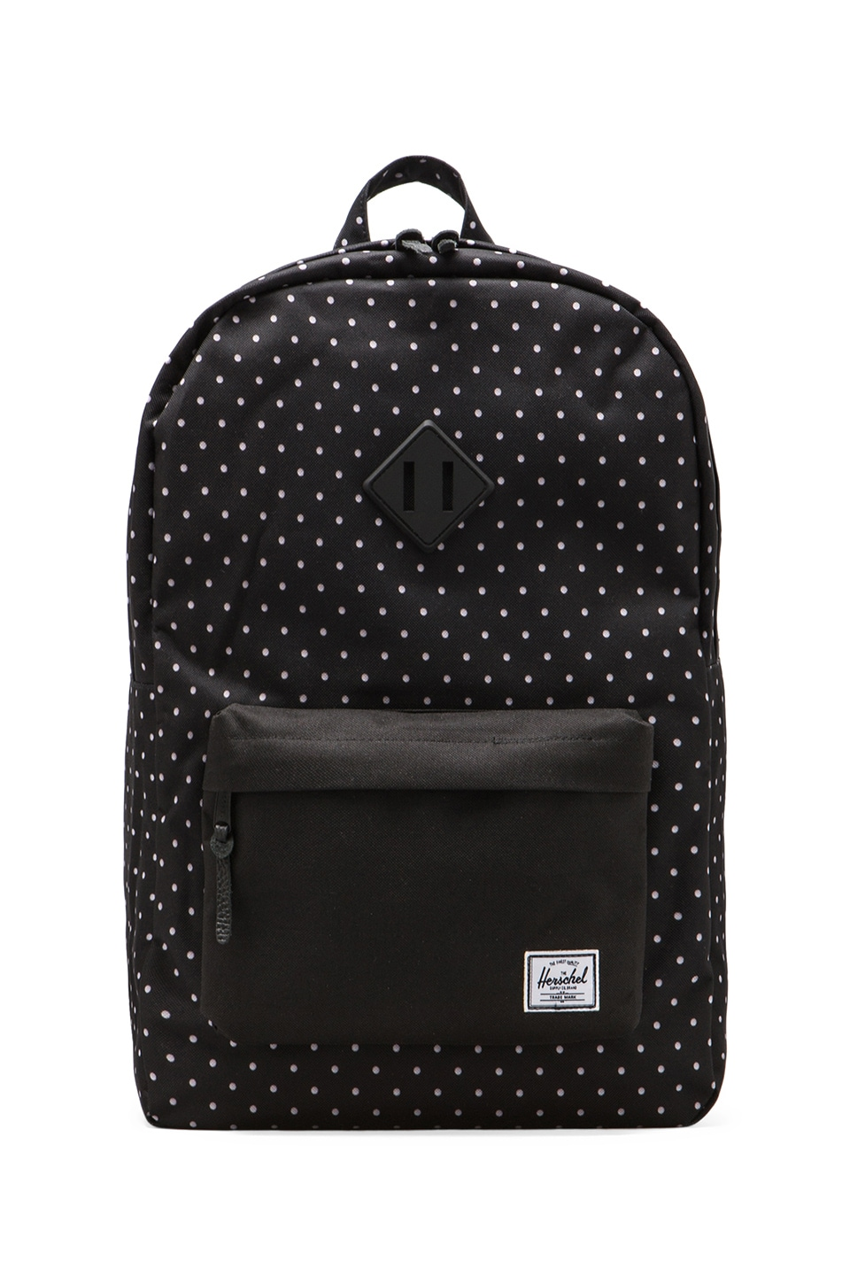Herschel Supply Co. Heritage Polka Dot Backpack en Noir/Blanc
