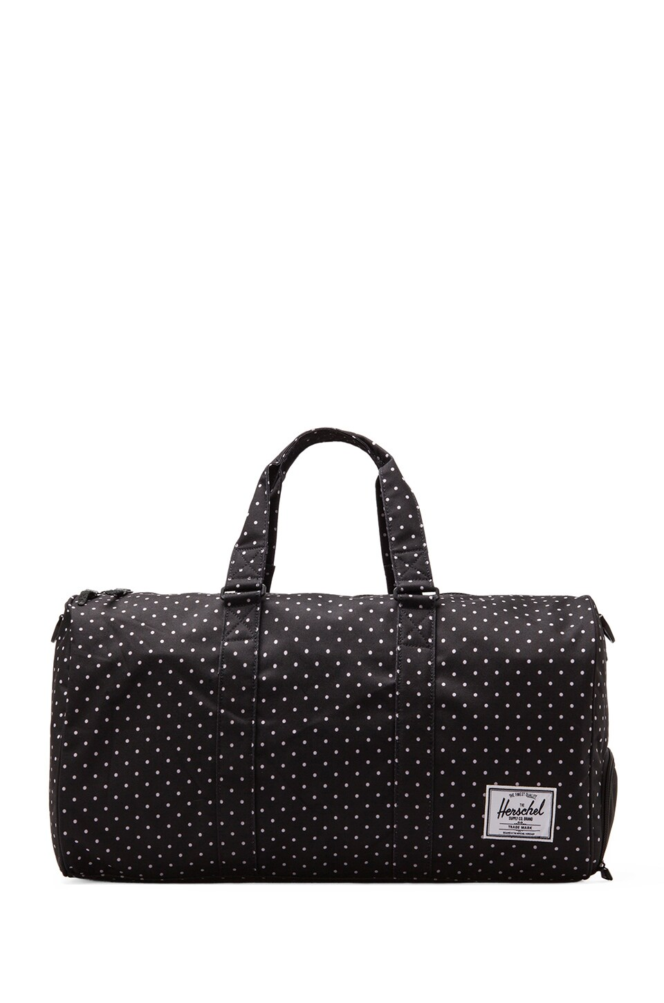 Herschel Supply Co. Novel Polka Dot Duffle in Black/ White