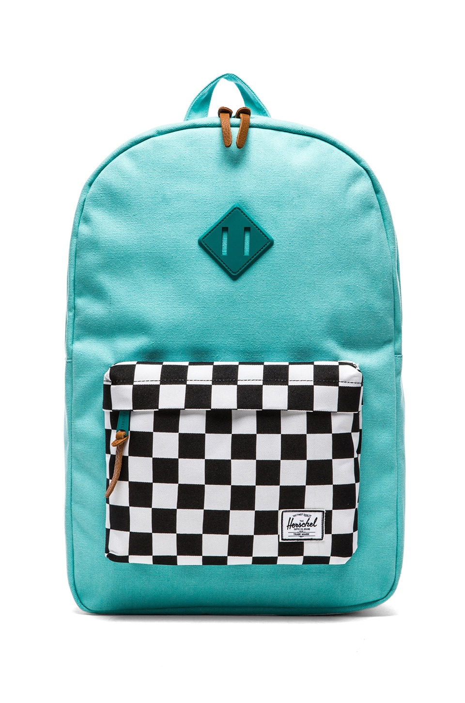 Herschel Supply Co. Heritage Canvas Collection in Washed Teal & Checkerboard