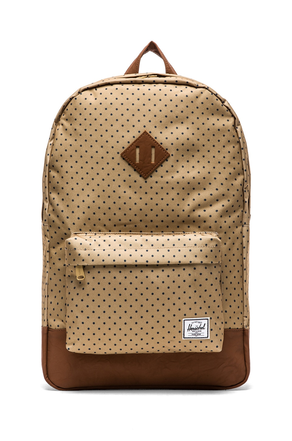 Herschel Supply Co. Heritage Backpack in Khaki Polka Dot