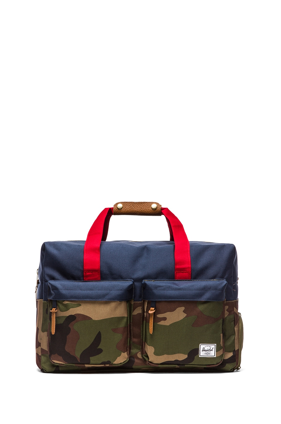 Herschel Supply Co. Walton Duffle in Woodland Camo & Navy & Red