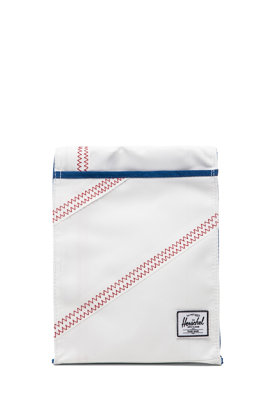 Herschel Supply Co. Studio Collection Canteen Lunch Bag in White & Regatta Blue