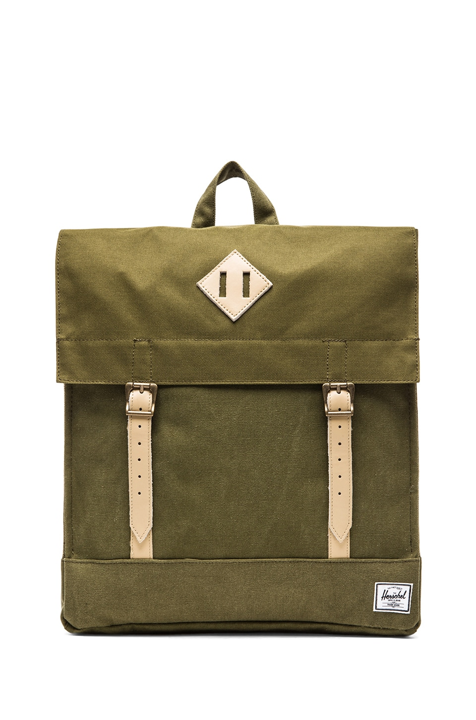 Herschel Supply Co. Canvas Collection Survey Backpack in Washed Army & Army