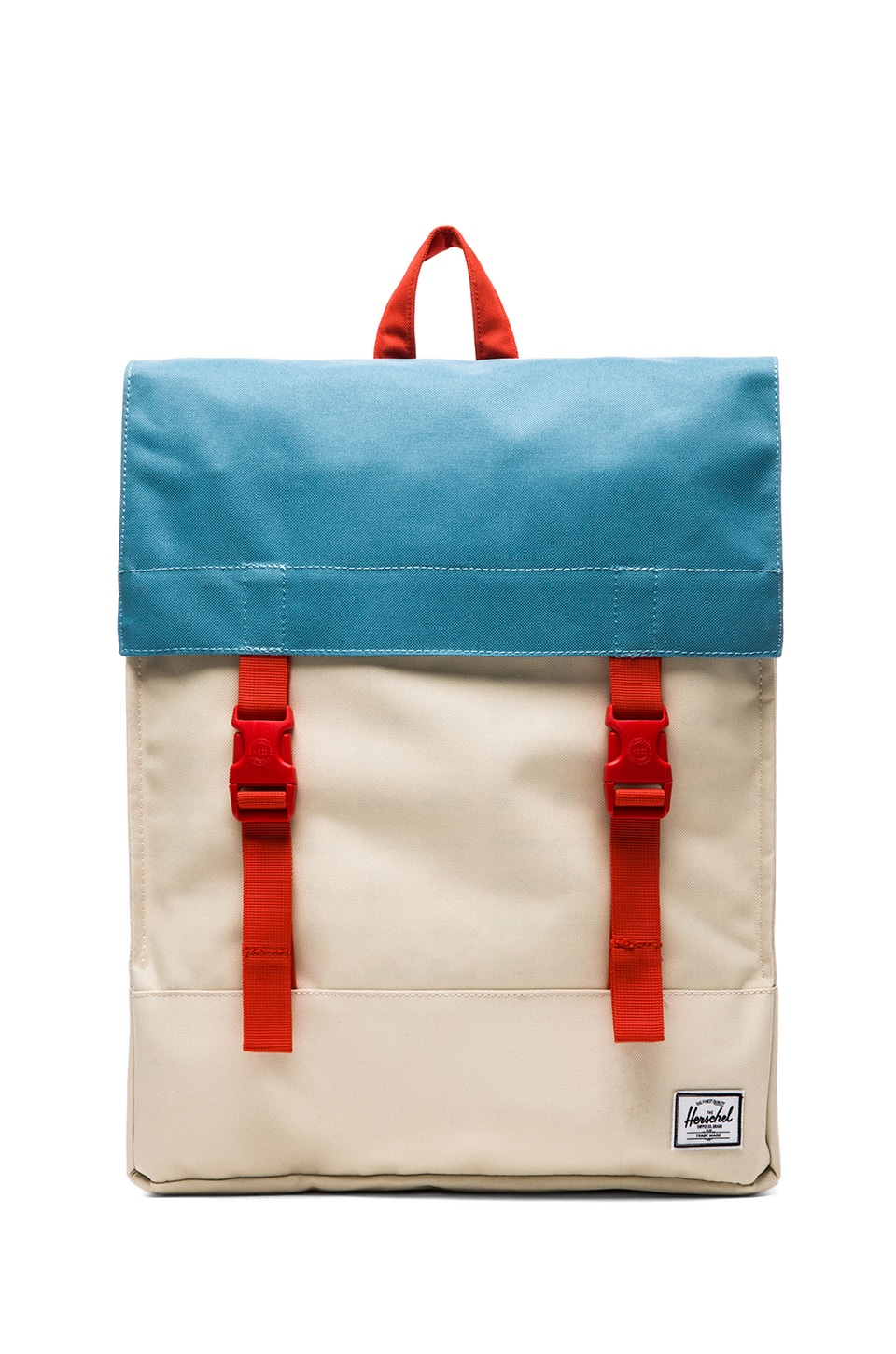 Herschel Supply Co. Rad Cars Collection Survey Backpack in Bone & Punch Bug Blue & Synchro Red