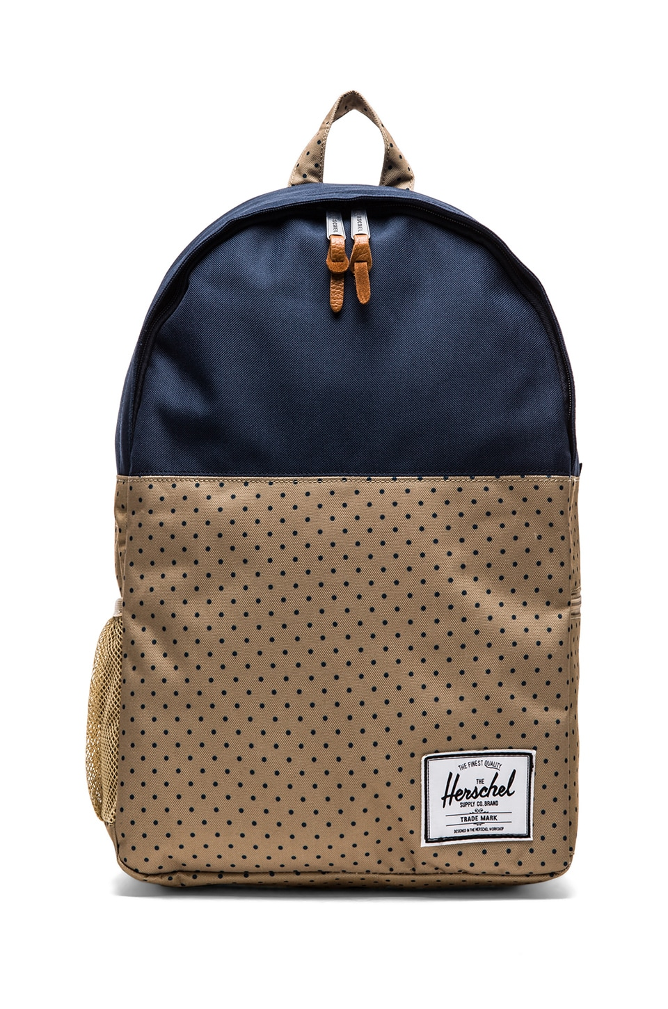 Herschel Supply Co. Jasper Backpack in Khaki Polka Dot & Navy