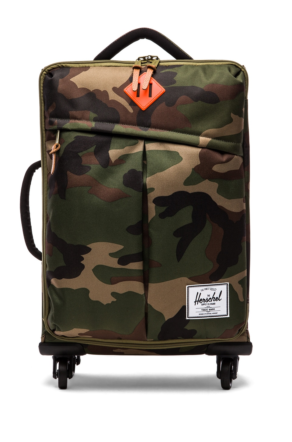 Herschel Supply Co. Highland Carry On in Woodland Camo & Orange