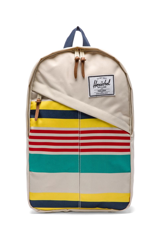 Herschel Supply Co. Malibu Collection Parker Backpack in Stripe & Bone & Navy
