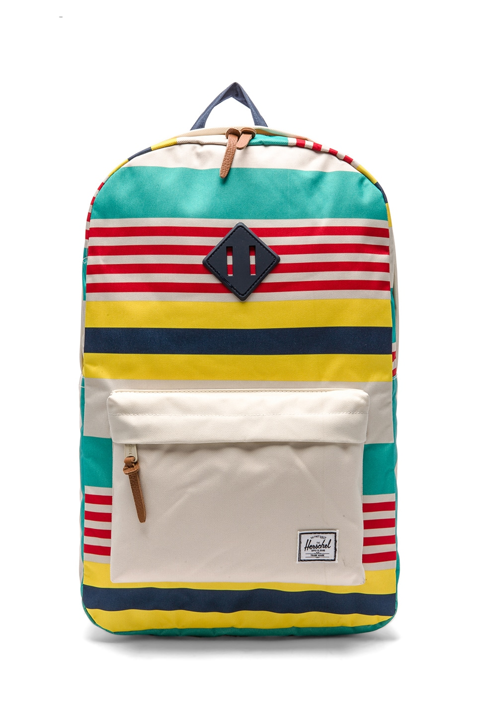 Herschel Supply Co. Malibu Collection Heritage Backpack in Stripe & Bone & Navy
