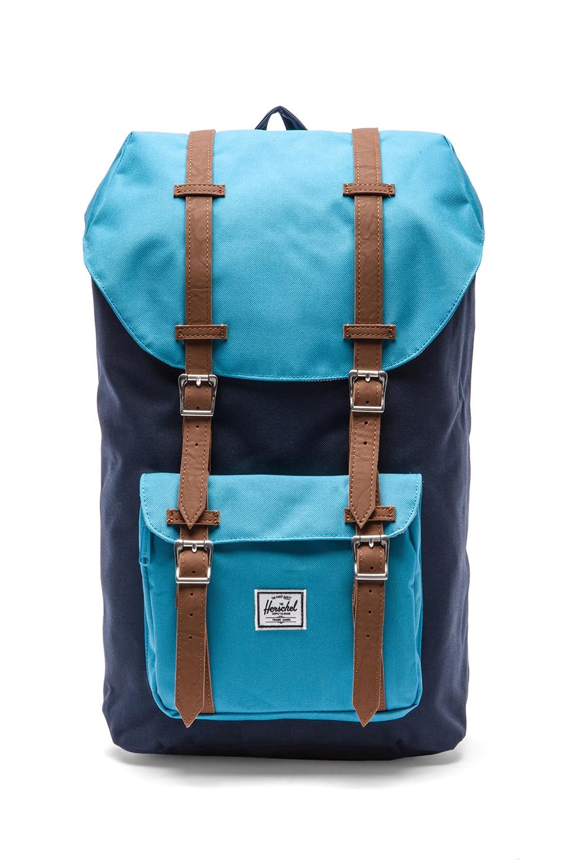 Herschel Supply Co. Little America Backpack in Navy & Cyan