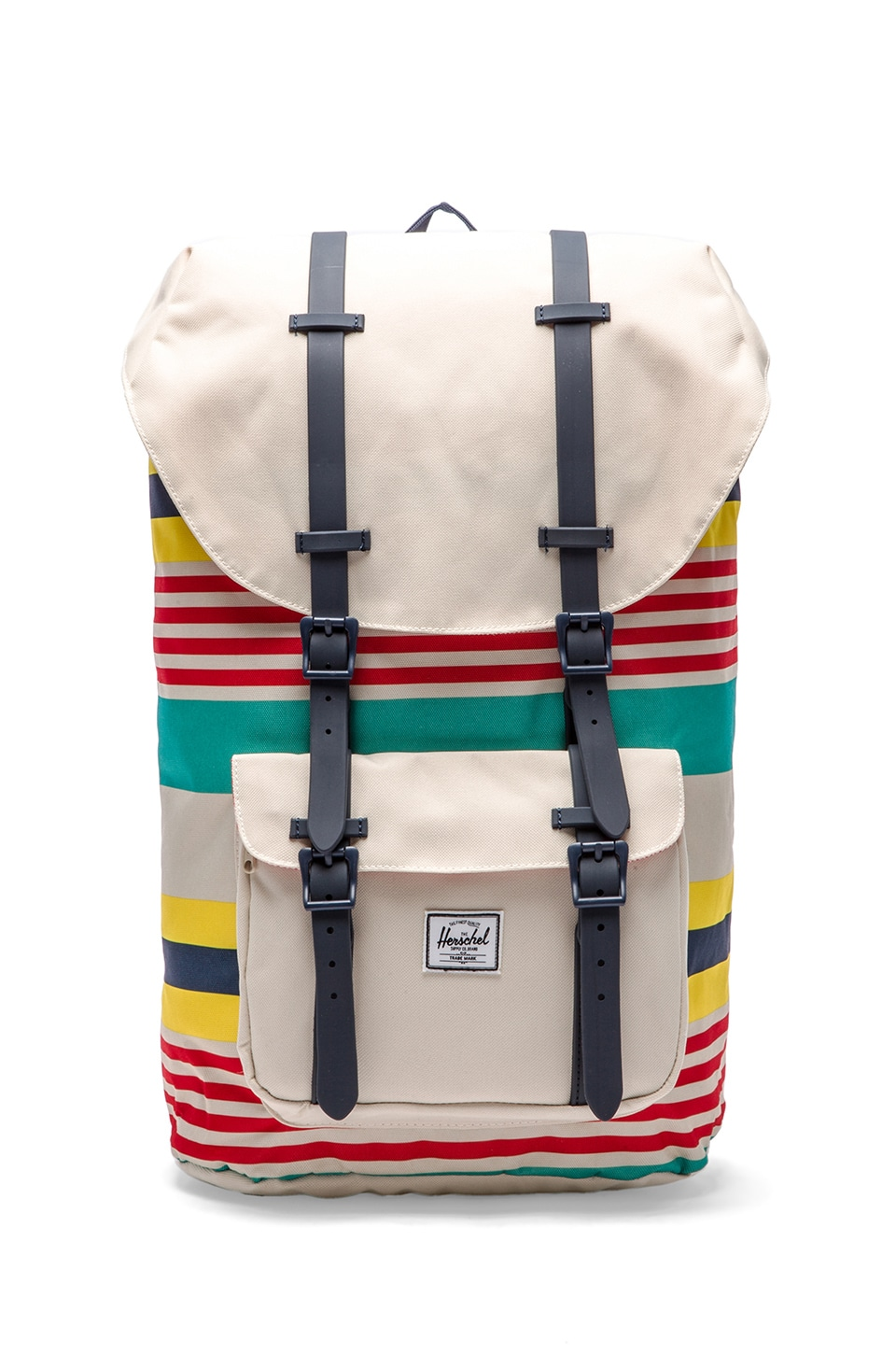 Herschel Supply Co. Malibu Collection Little America Backpack in Stripe & Bone & Navy