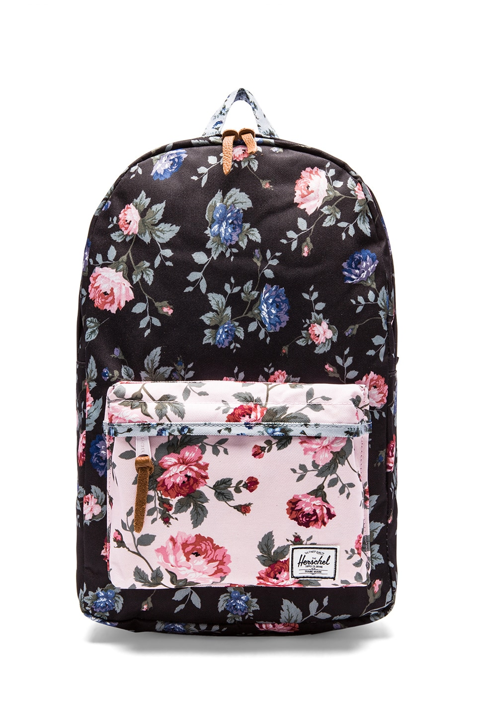 Herschel Supply Co. Fine China Collection Heritage Backpack in Black Floral & Pink Floral