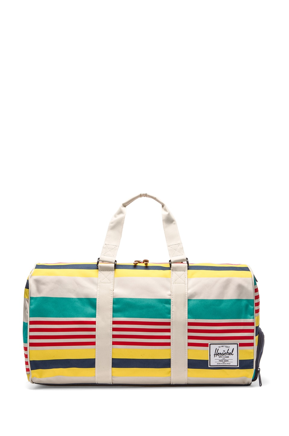 Herschel Supply Co. Malibu Collection Novel Duffle in Stripe & Bone & Navy