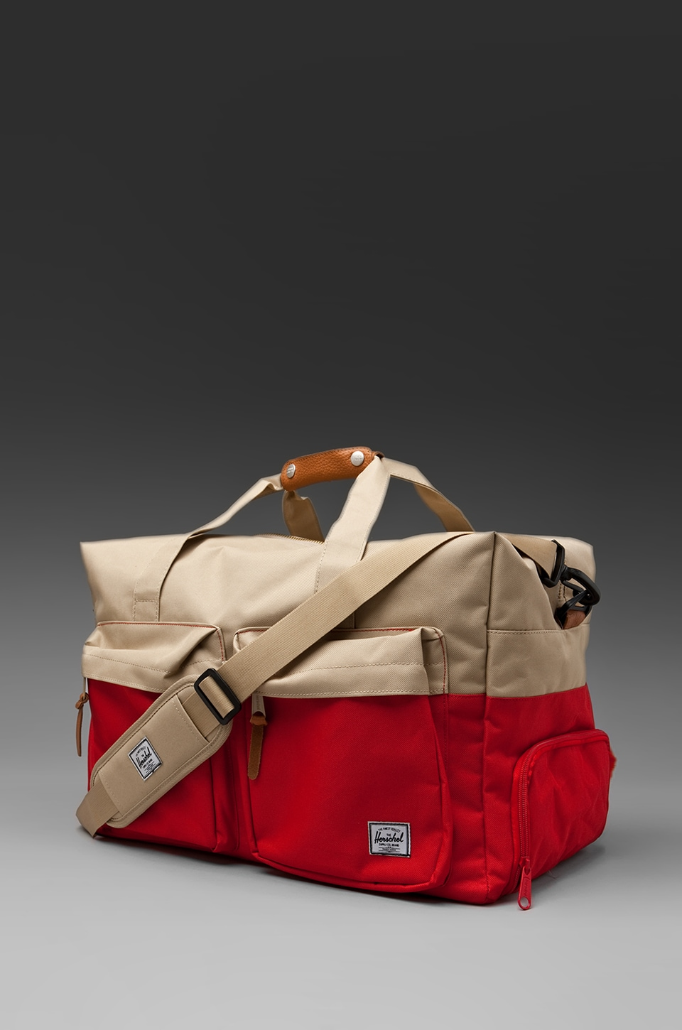 Herschel Supply Co. Walton Duffle Bag in Red/Khaki
