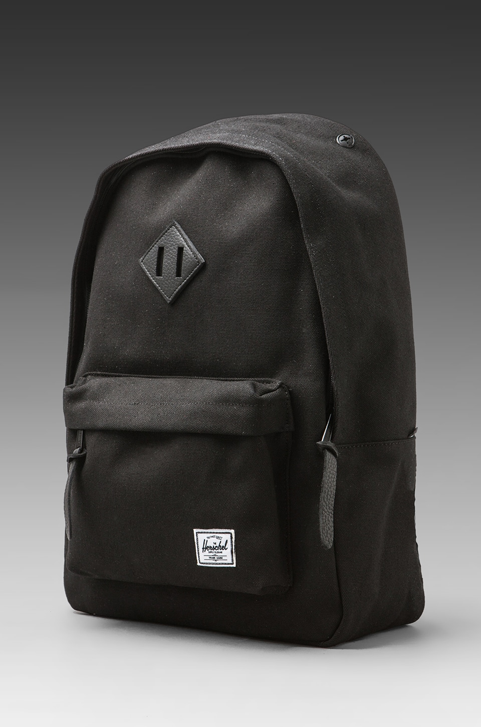Herschel Supply Co. Black Canvas Collection Woodlands Backpack in Black Canvas