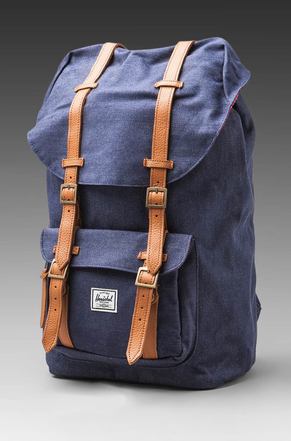 Herschel Supply Co. Denim Collection Little America Backpack in Dark Denim
