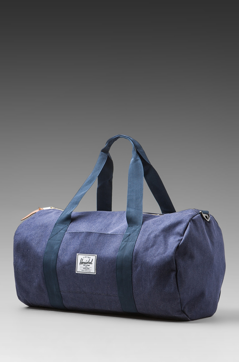 Herschel Supply Co. Denim Collection Duffle Bag Backpack in Dark Denim