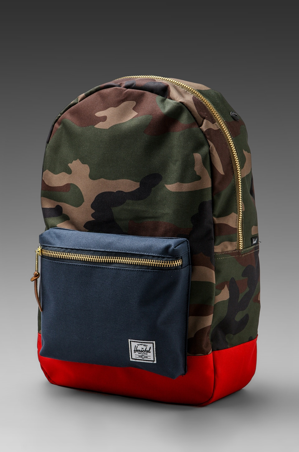 Herschel Supply Co. Settlement Backpack in Woodland Camo/Navy/Red