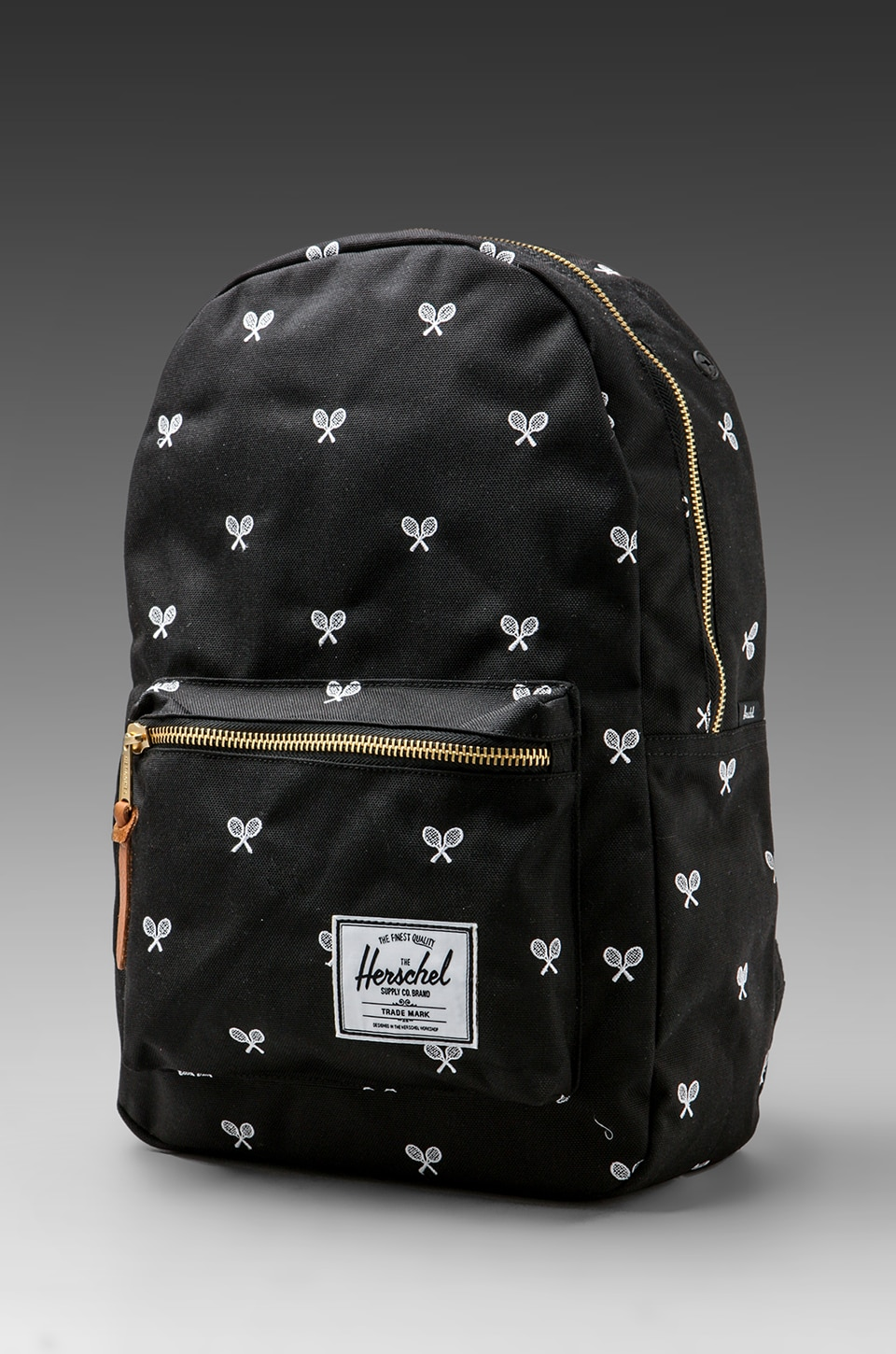 Herschel Supply Co. Invitational Collection Settlement Plus Cordura Backpack in Black/White Embroidery