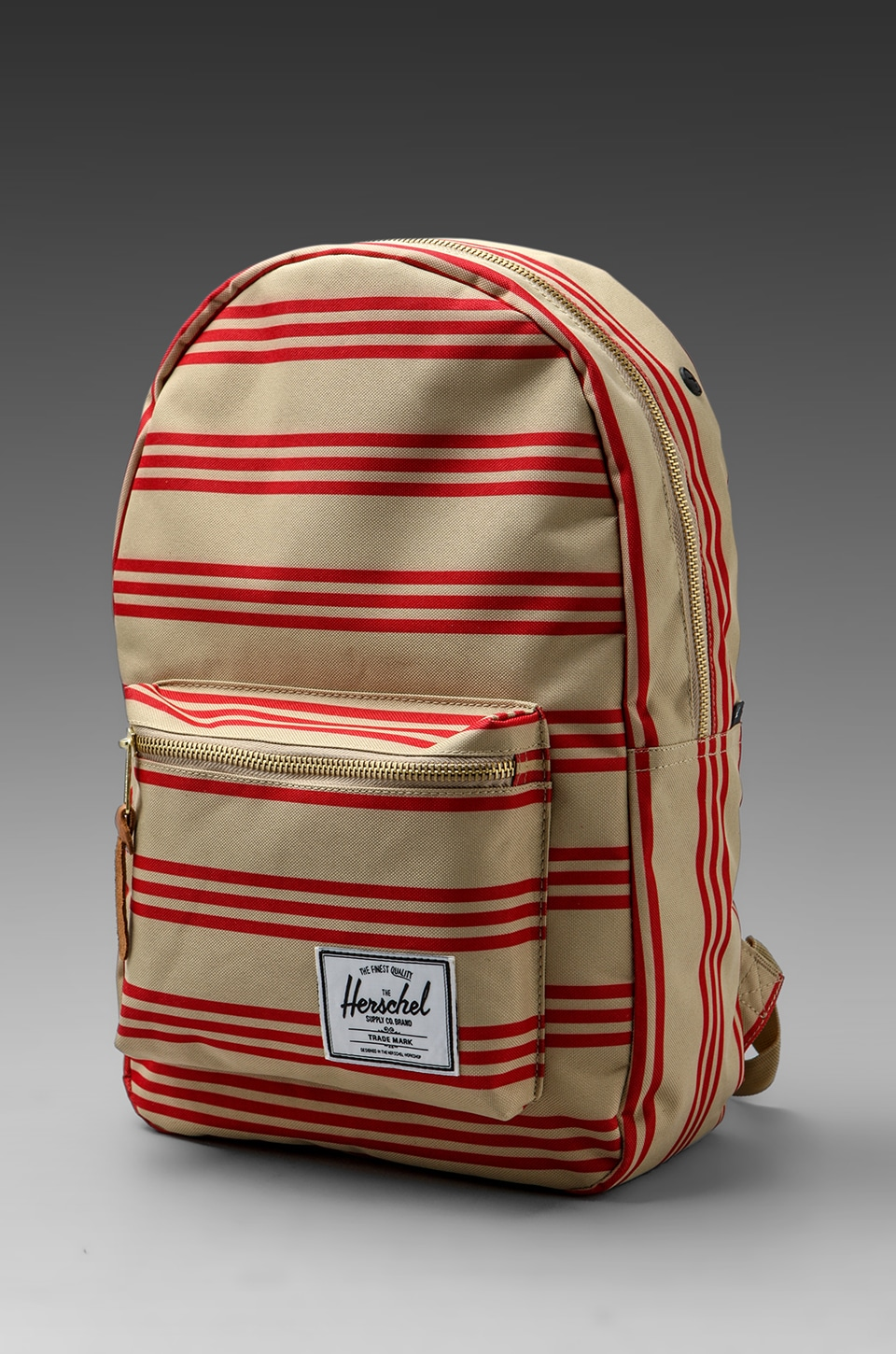 Herschel Supply Co. Invitational Collection Settlement Plus in Red/Khaki Stripe