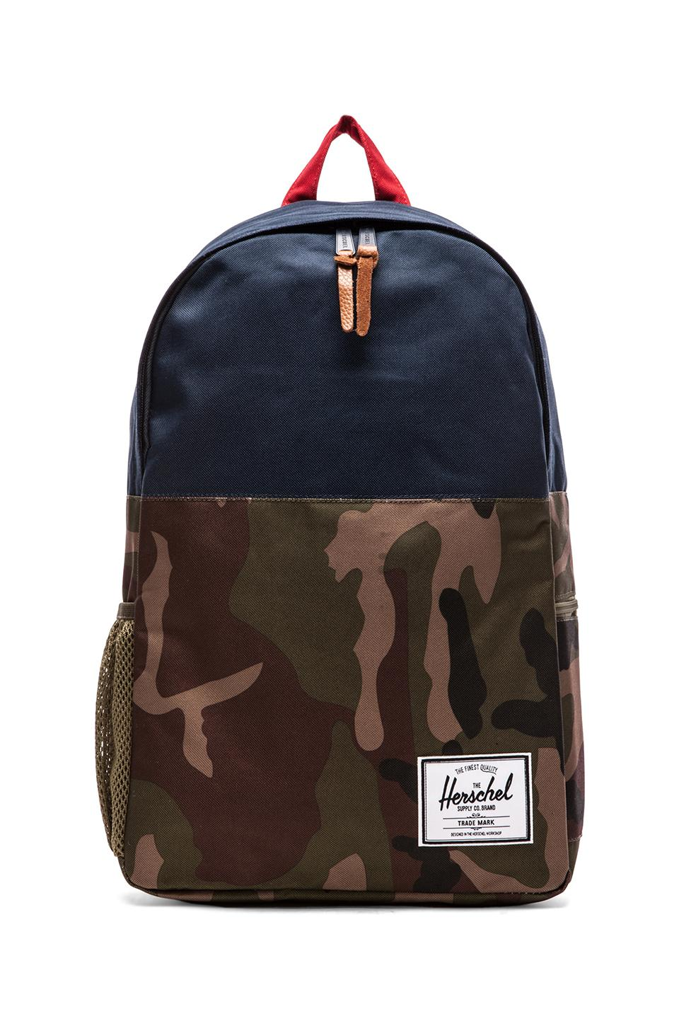 Herschel Supply Co. Jasper Backpack in Woodland Camo/ Navy/ Red