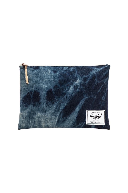 Herschel Supply Co. XL Network Pouch in Acid Wash Denim