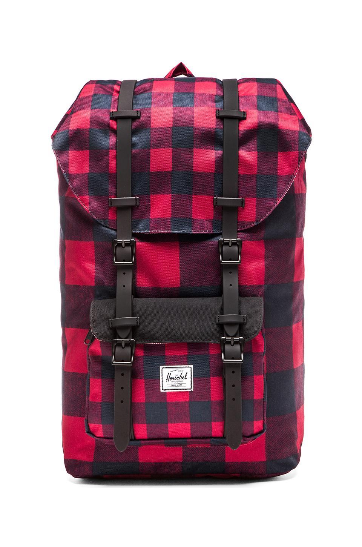 Herschel Supply Co. Little America Backpack in Buffalo Plaid  be4fbb03dd90b