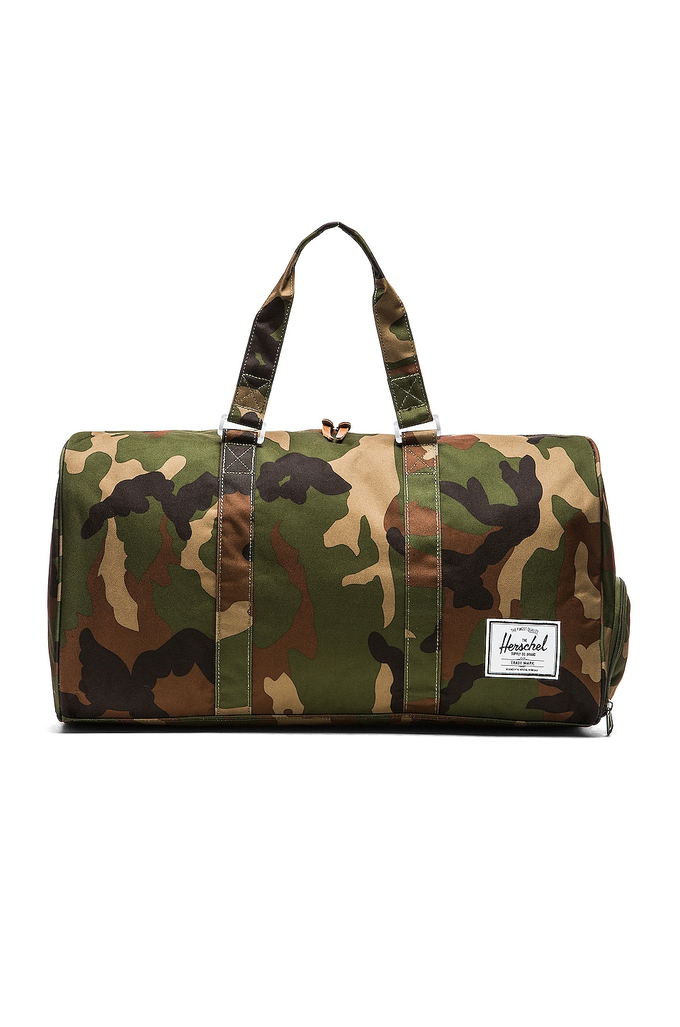 Herschel Supply Co. Novel in Woodland Camo & Stripe Zipper