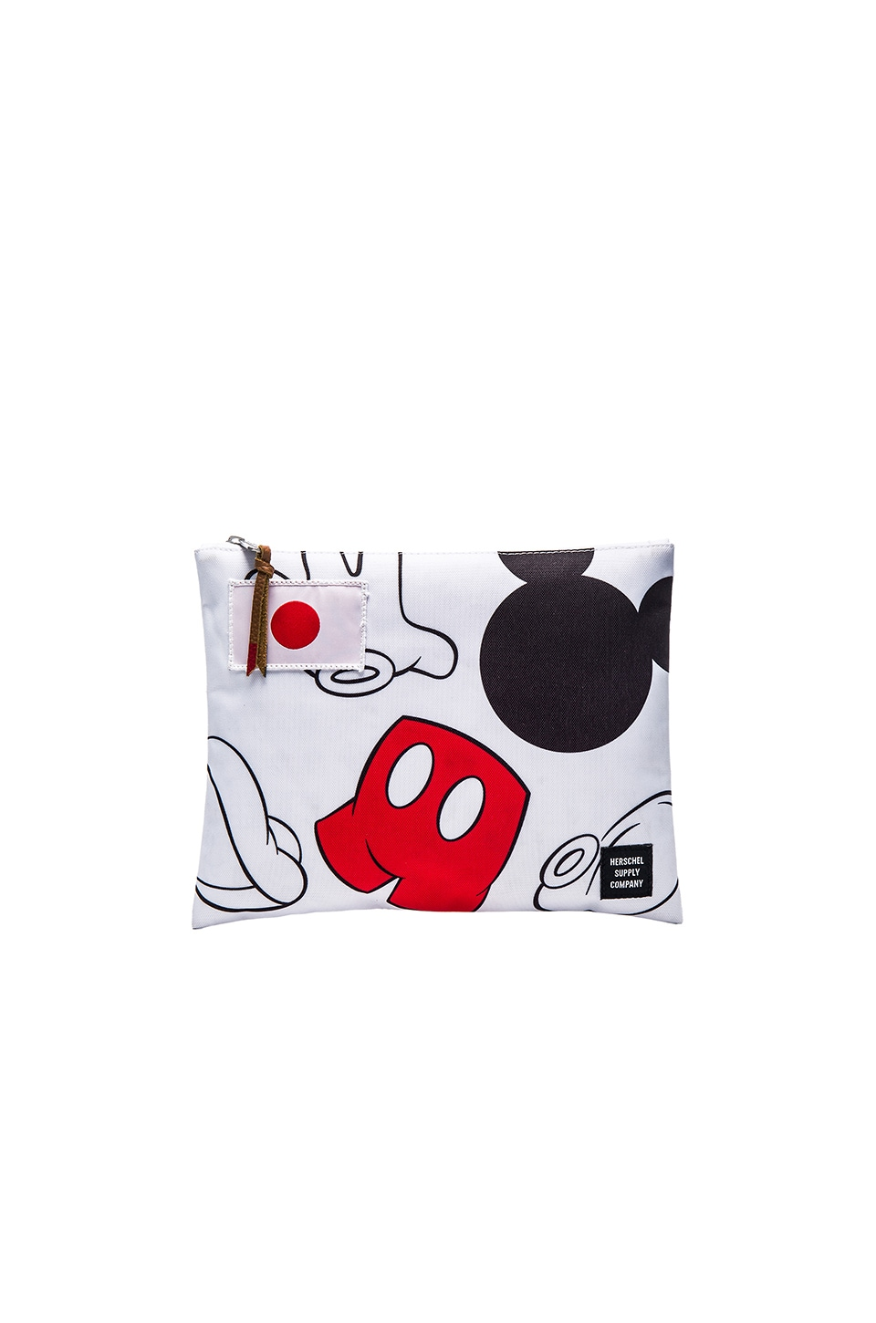 Herschel Supply Co. For Disney Large Network Pouch in White & Mickey