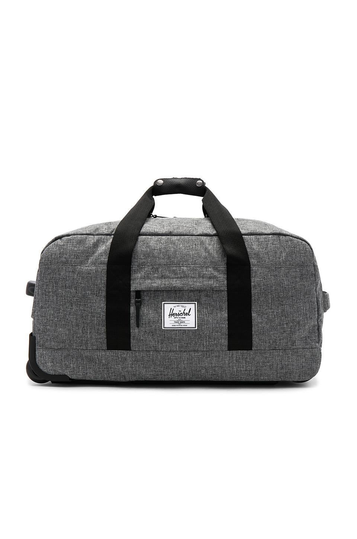 c7ddbaf7f0ad Herschel Supply Co. Wheelie Outfitter Suitcase in Raven Crosshatch ...