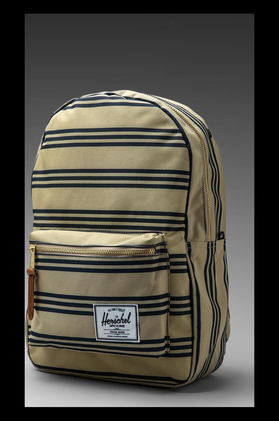 Herschel Supply Co. Settlement Plus Backpack in Navy/Khaki Stripe