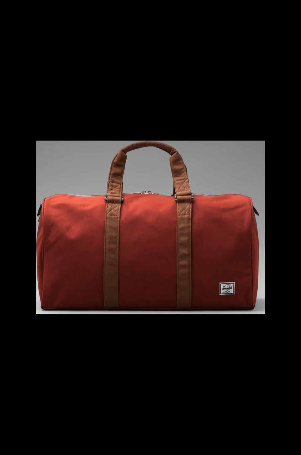 Herschel Supply Co. Ravine Duffle in Rust/Tan