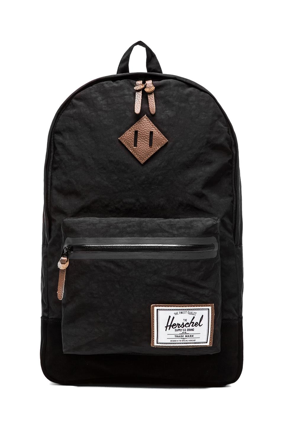 Herschel Supply Co. Bad Hills Collection Heritage Plus Backpack in Black