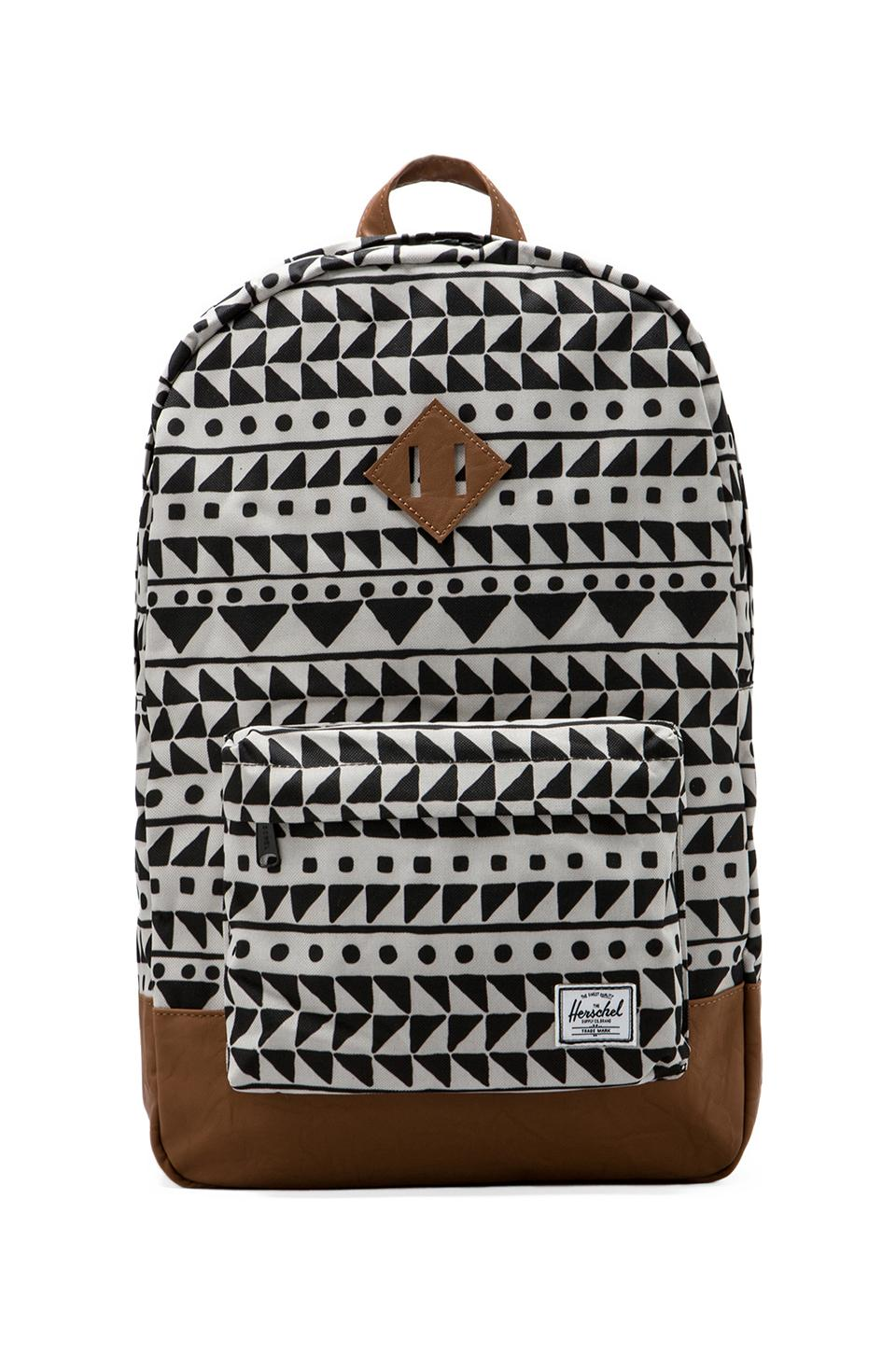 Herschel Supply Co. Heritage Backpack in Chevron Black