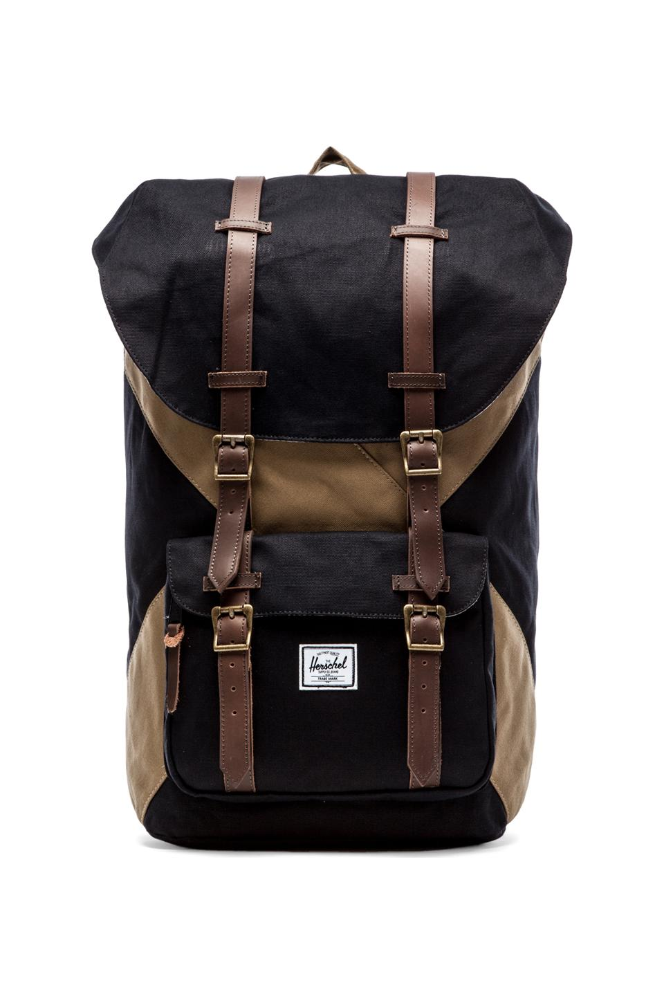 Herschel Supply Co. Studio Collection Little America Backpack in Black & Sand