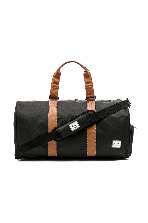 Herschel Supply Co. Novel Mid Volume Duffle Bag in Black & Tan
