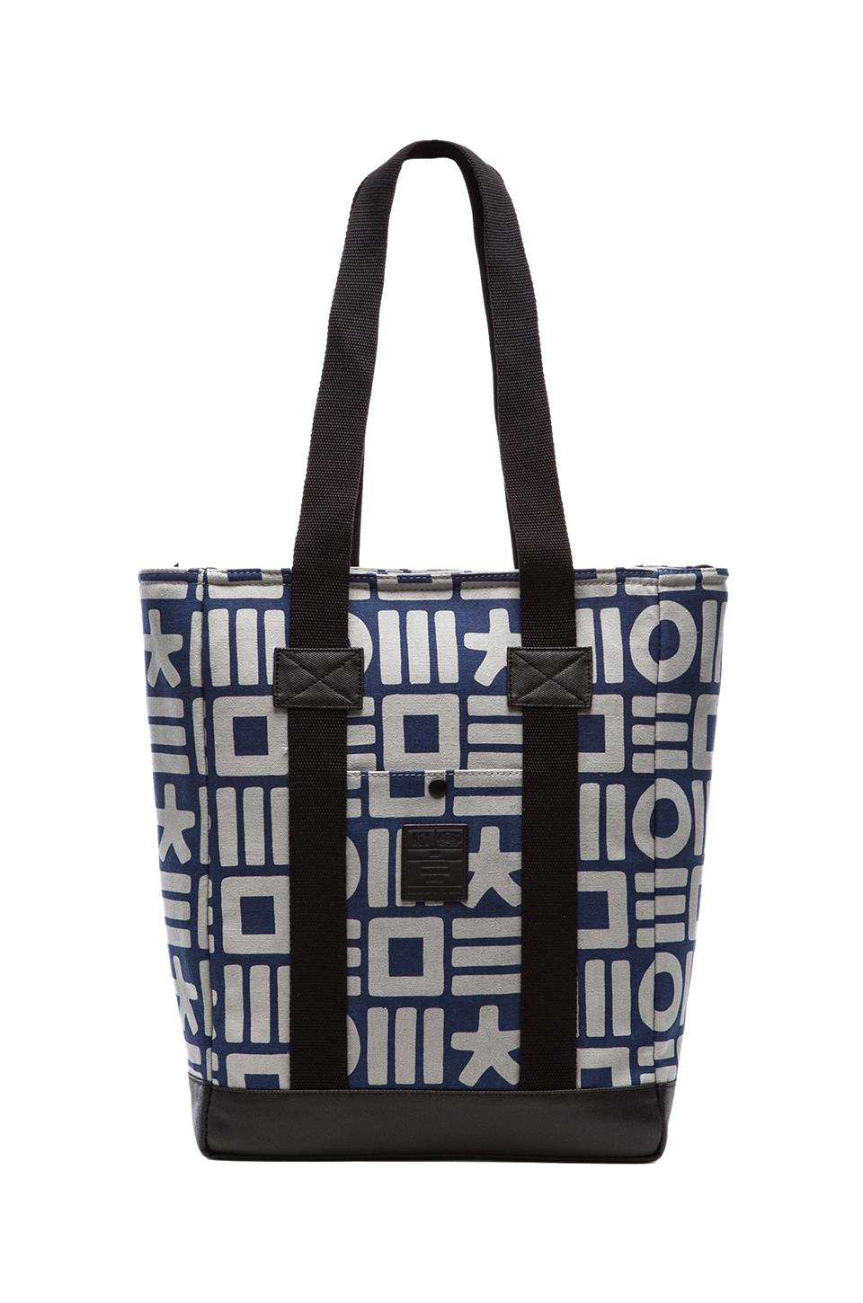 HEX Tote in Black & Grey