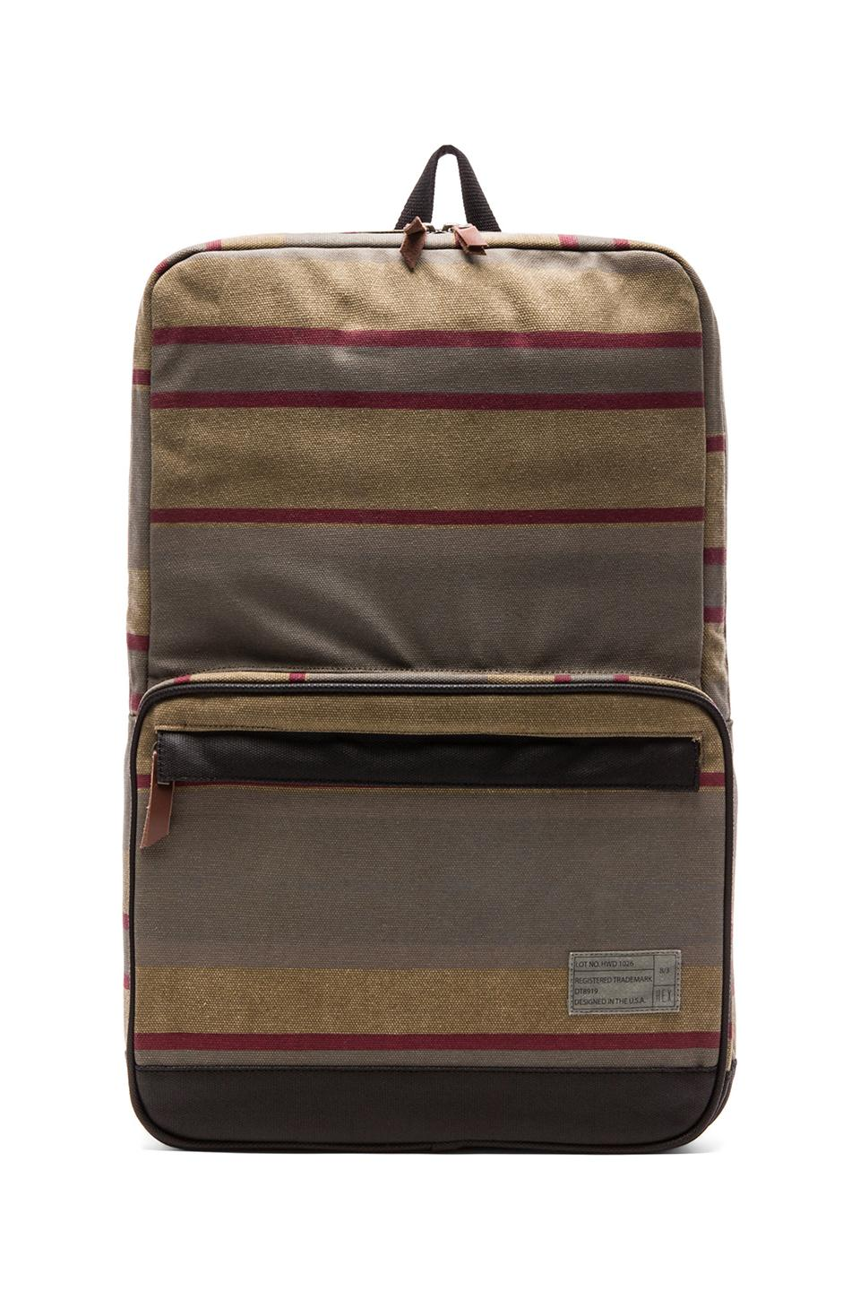HEX Origin Backpack in Khaki Stripe