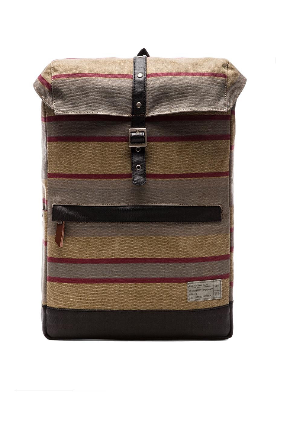 HEX Alliance Backpack in Khaki Stripe