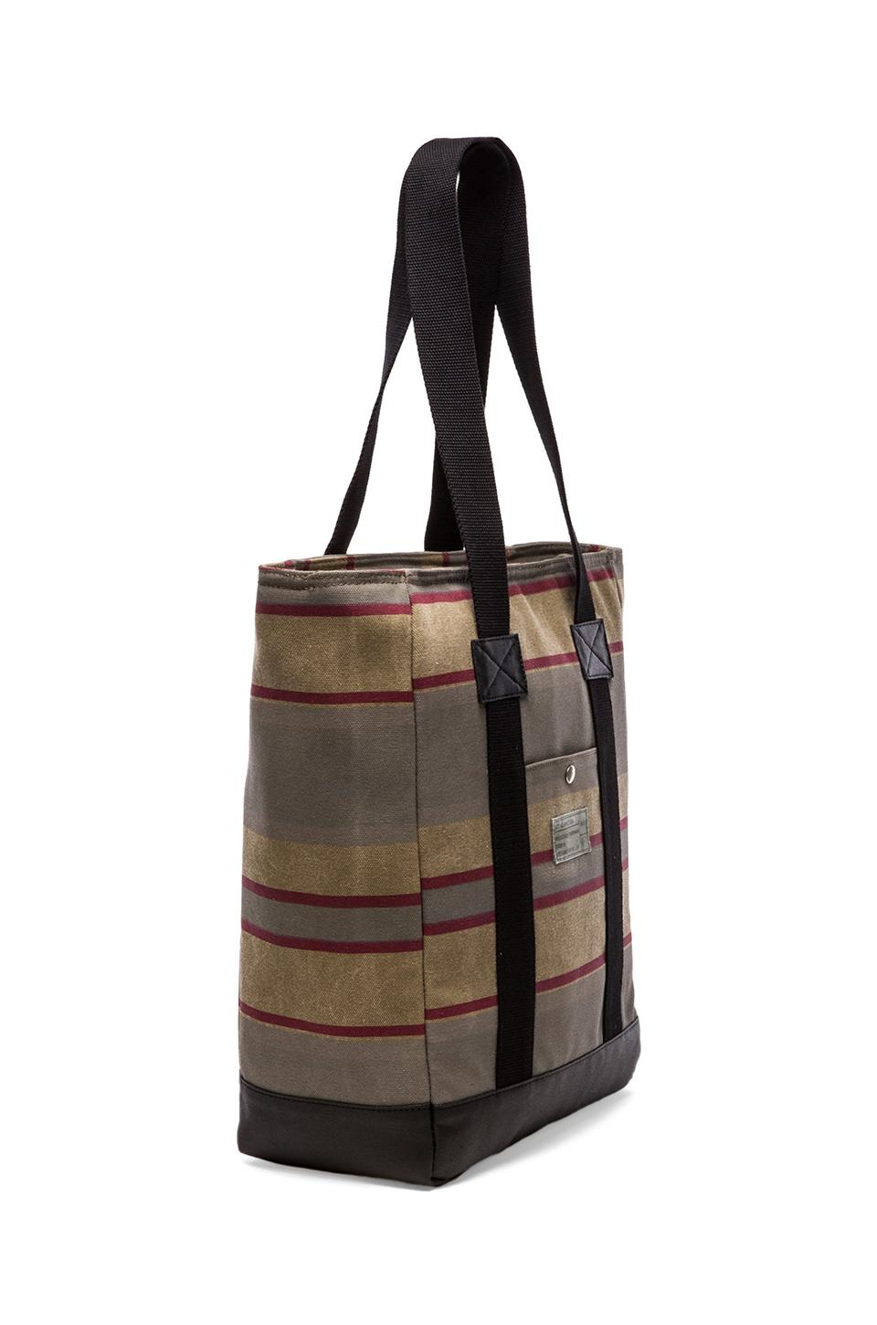 "HEX Tote for 15"" Laptop in Khaki Stripe"