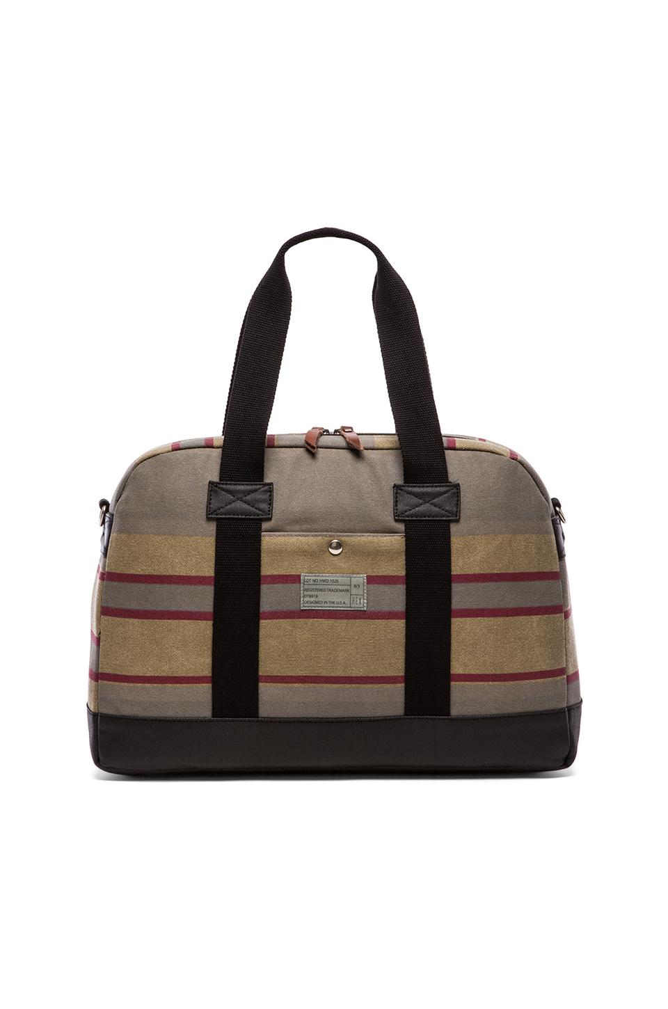 HEX Laptop Duffle in Khaki Stripe