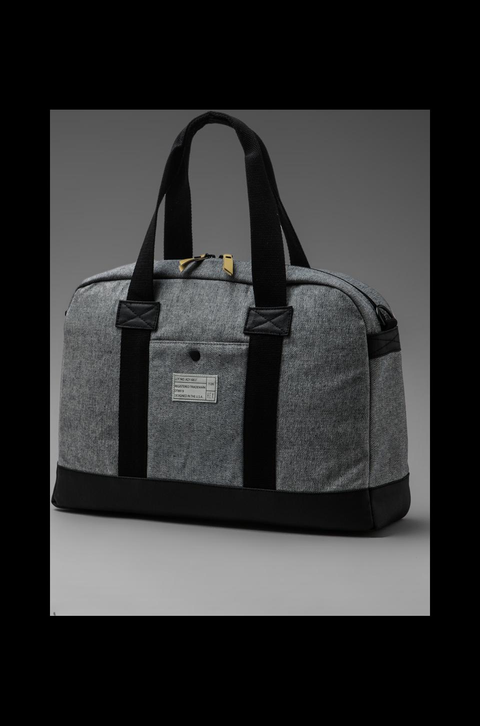 HEX Academy Duffle in Waxed Grey