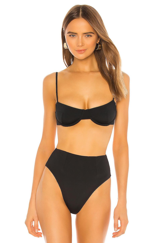 HAIGHT. Vintage Bikini Top in Black