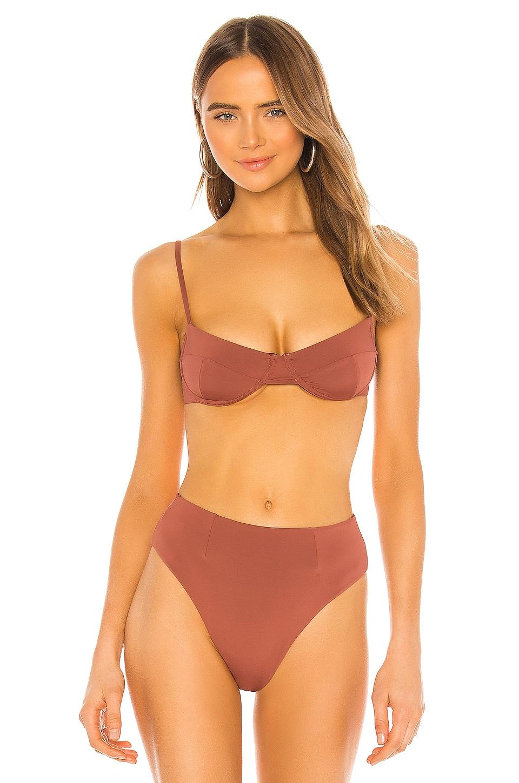 HAIGHT. X REVOLVE Vintage Bikini Top in Marsala